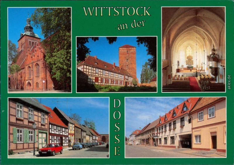 Wittstock/Dosse Marienkirche, Ostprignitzmuseum und Amtsturm,   1995
