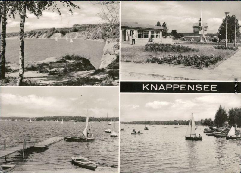 Ansichtskarte Groß Särchen-Lohsa Łaz Knappensee 1971