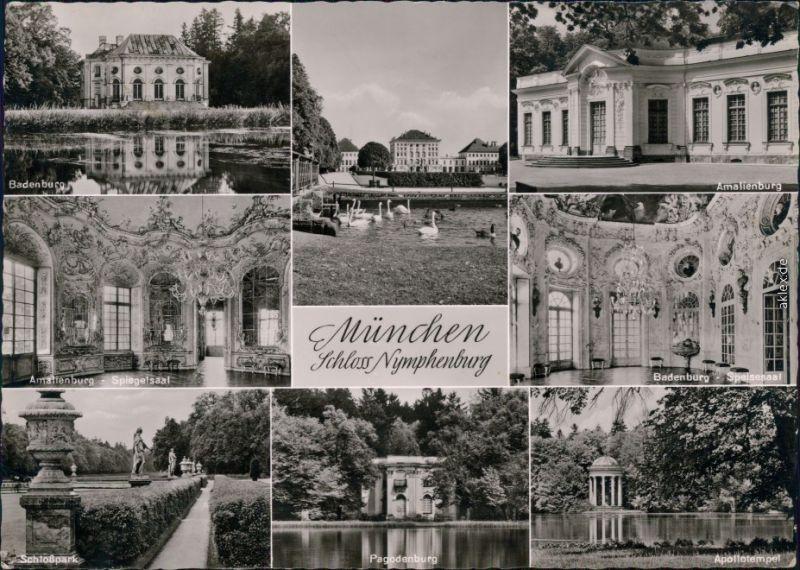 Ansichtskarte München Schloss Nymphenburg 1956