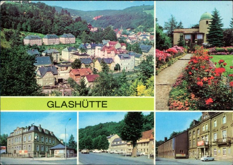Glashütte Sternwarte, August-Bebel-Straße, Ernst-Thälmann-Straße,  1980