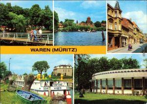 Waren (Müritz) Kietzbrücke, Blick von der Kietzbrücke zur Altstadt,1982