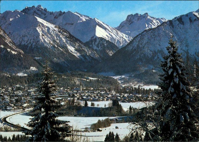 Ansichtskarte Oberstdorf (Allgäu) Panorama-Ansicht 1959