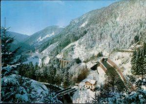 Hirschsprung-Breitnau Höllsteig-Höllental, Blick zum Ravennaviadukt 1988