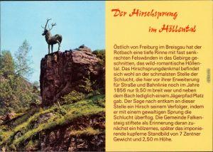 Hirschsprung-Breitnau Der Hirschsprung im Höllental Schwarzwald 1999