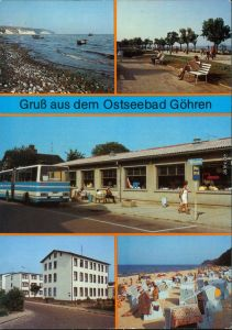 Göhren (Rügen) Südstrand, Strandpromenade, HO-Gaststätte 1987