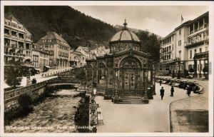 Ansichtskarte Bad Wildbad Partie mit Trinkhalle 1932