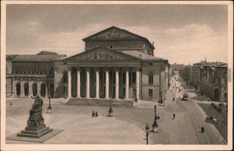 Ansichtskarte München Nationaltheater 1928