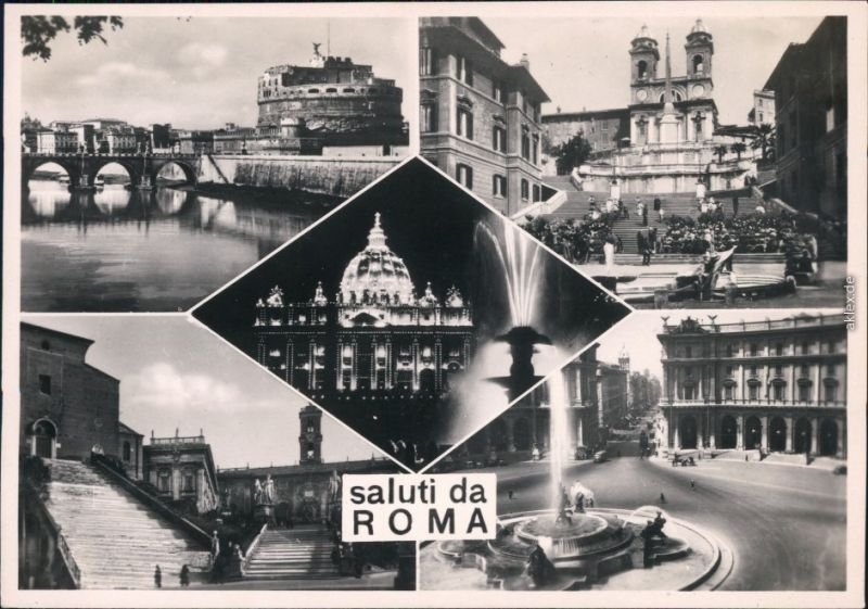 Ansichtskarte Rom Roma saluti da Roma 1941