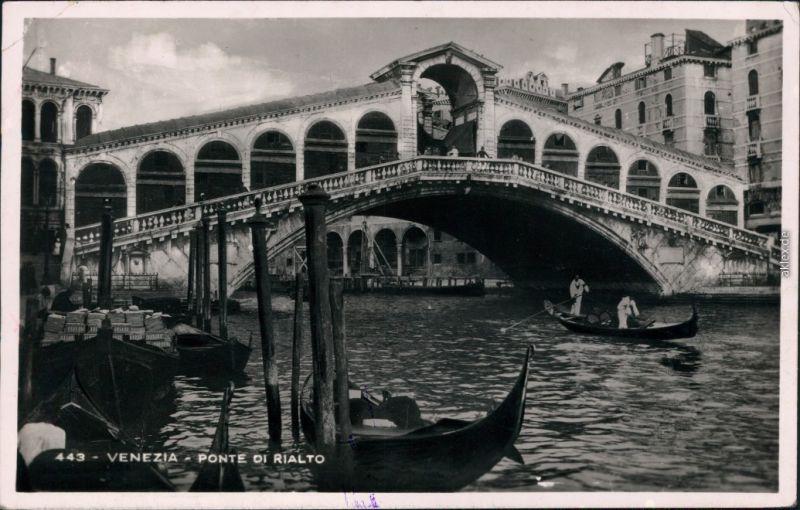 Ansichtskarte Venedig Venezia Ponte di Rialto 1929
