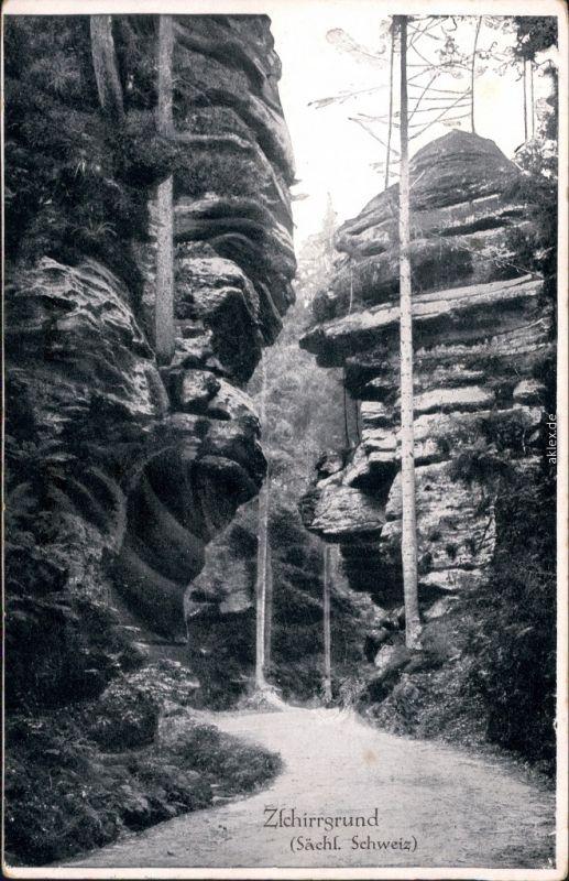 Uttewalde-Lohmen (Sachsen) Felsentor Zschirrgrund (Sächs. Schweiz) 1936