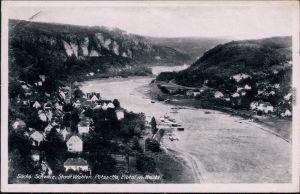 Ansichtskarte Wehlen Stadt Wehlen - Pötzscha, Elbtal mit Bastei 1939