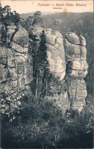 Ansichtskarte Hohnstein (Sächs. Schweiz) Polenztal - Brand, Hafersäcke 1916