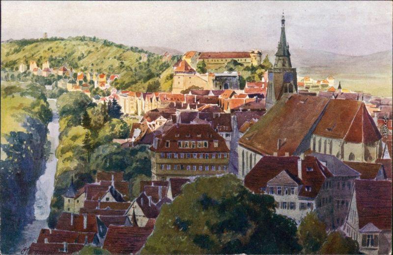 Ansichtskarte Ansichtskarte Tübingen Stadt vom Oesterberg 1922
