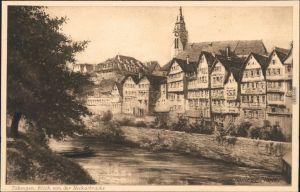 Ansichtskarte Tübingen Blick auf die Stadt - Künstlerkarte 1912
