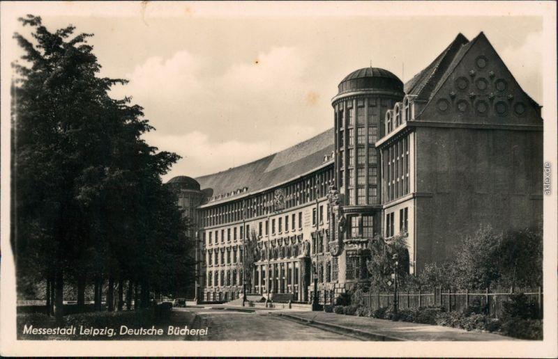 Ansichtskarte Leipzig Deutsche Bücherei 1954