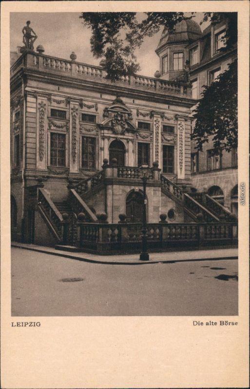 Ansichtskarte Leipzig Partie an der Alten Börse 1928