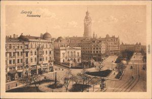 Ansichtskarte Leipzig Partie am Thomasring 1924