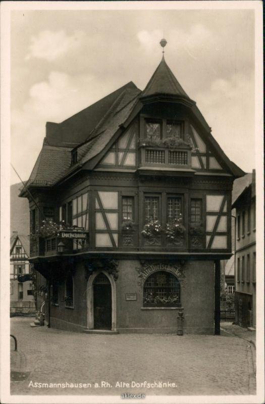 Assmannshausen am Rhein-Rüdesheim (Rhein) Alte Dorfschänke 1930 Nr ...