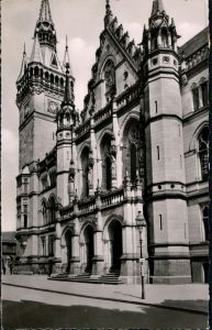 Ansichtskarte Braunschweig Neues Rathaus 1956