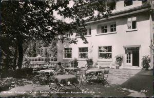 Ansichtskarte Bad Berneck im Fichtelgebirge Café und Pension Wallenrode 1957