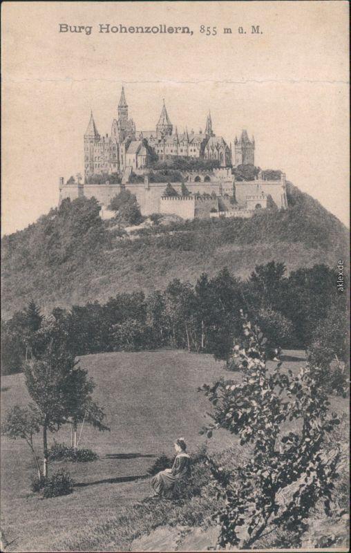 Ansichtskarte Hechingen Burg Hohenzollern 1908