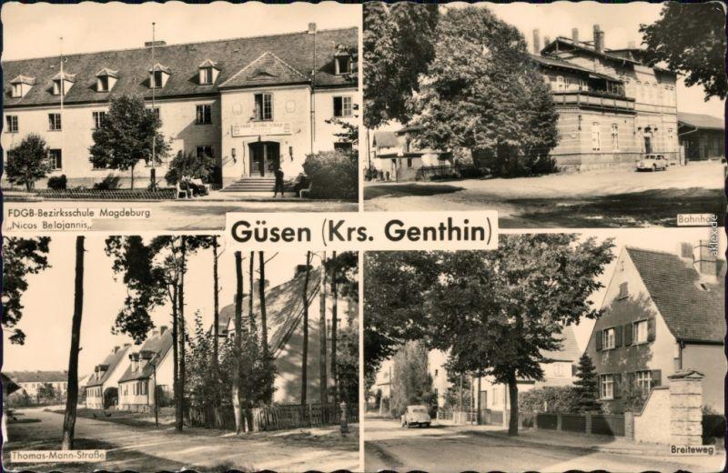 Ferchland (Elbe)Elbe-Parey Güsen6, Bahnhof, Thomas-Mann-Straße, Breiteweg 1959