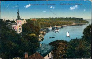 Ansichtskarte Woltersdorf Woltersdorfer Schleuse, Panorama, Flakensee 1911