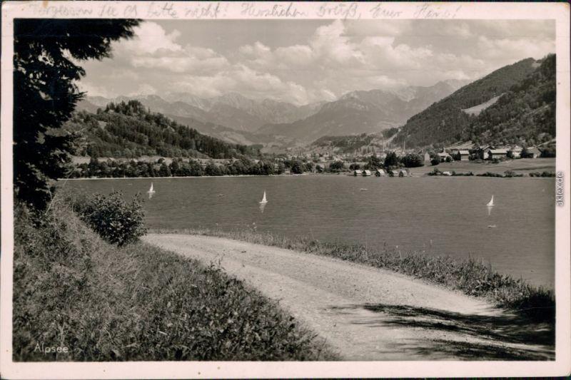 Ansichtskarte Immenstadt (Allgäu) Bühl, Alpsee 1953