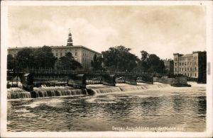 Ansichtskarte Dessau-Dessau-Roßlau Herzogliches Schloss an der Mulde 1941