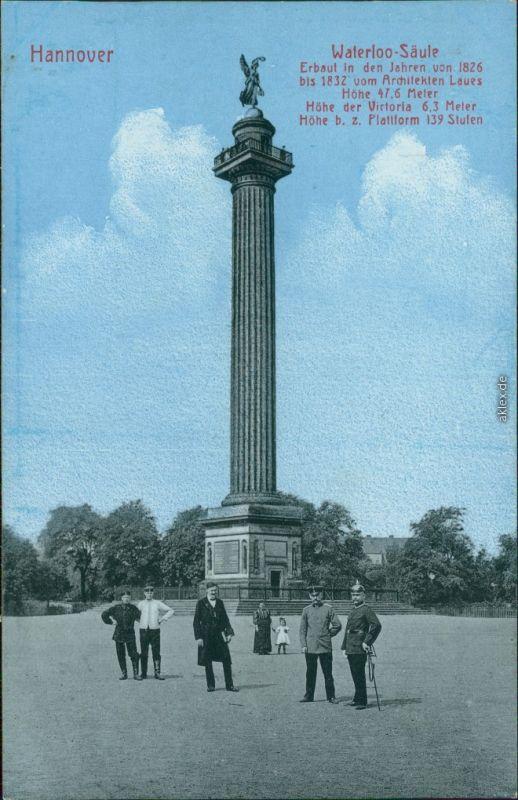 Ansichtskarte Hannover Waterloo-Säule 1911