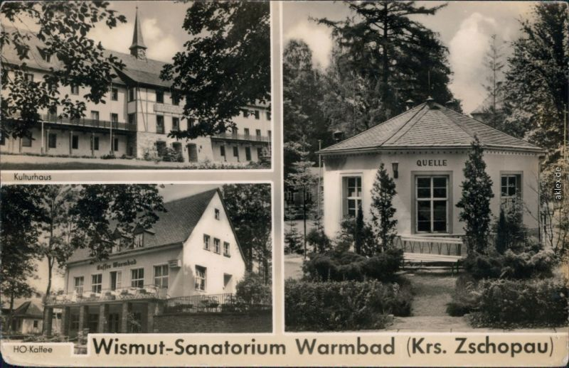 Ansichtskarte Warmbad-Wolkenstein Wismut-Sanatorium 1959 0