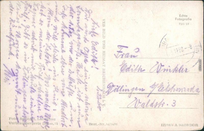 Ansichtskarte Warmbad-Wolkenstein Wismut-Sanatorium 1959 1