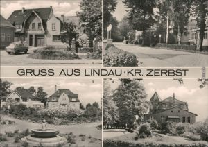 Lindau (Anhalt)-Zerbst Thälmannplatz, Diät-Sanatorium, Parkanlage,  2 1974