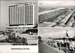 Warnemünde-Rostock Hotel Neptun, Blick vom  Hotels Neptun zum Strand  1978