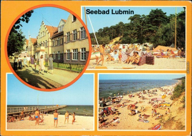 Ansichtskarte Ansichtskarte Lubmin Seebad Lubmin, Strand g1986