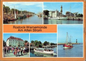 Warnemünde Rostock  Teepott Weißen Flotte Käppn Brass, Fischkutter  Mole 1986