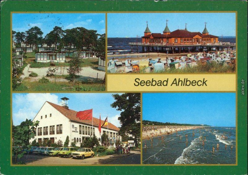 Ahlbeck (Usedom) Urlauberdorf,   FDGB-Erholungsheim Haus der Erholung 1988