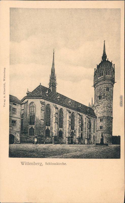 Ansichtskarte Lutherstadt Wittenberg Evangelische Schloßkirche 1918