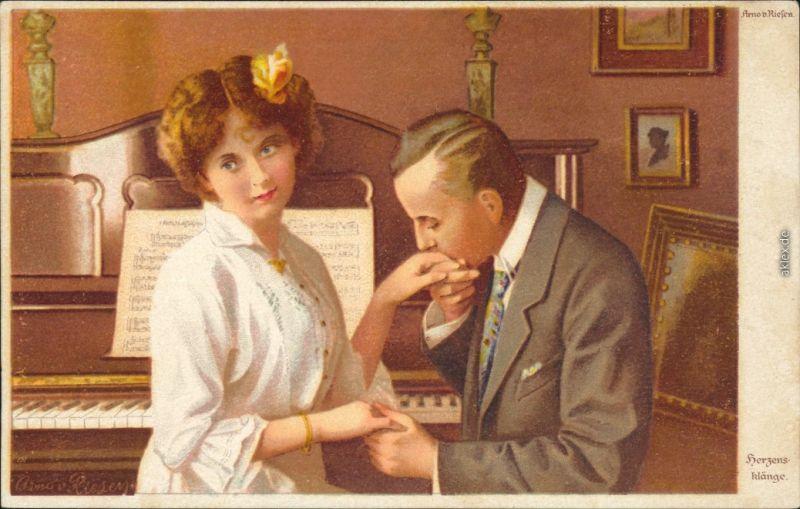 Wenau-Delila-Künstlerkarten - Herzensklänge von Arno v. Riefen 1918