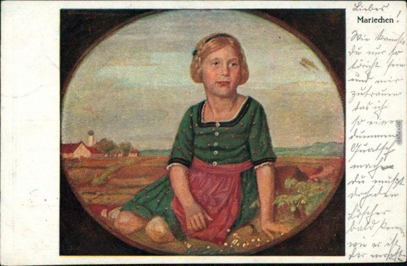 Ansichtskarte Ansichtskarte Moderne Kunst - Mariechen 1918