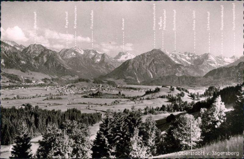 Ansichtskarte Oberstdorf (Allgäu) Panorama-Ansicht vom Jägersberg 1964
