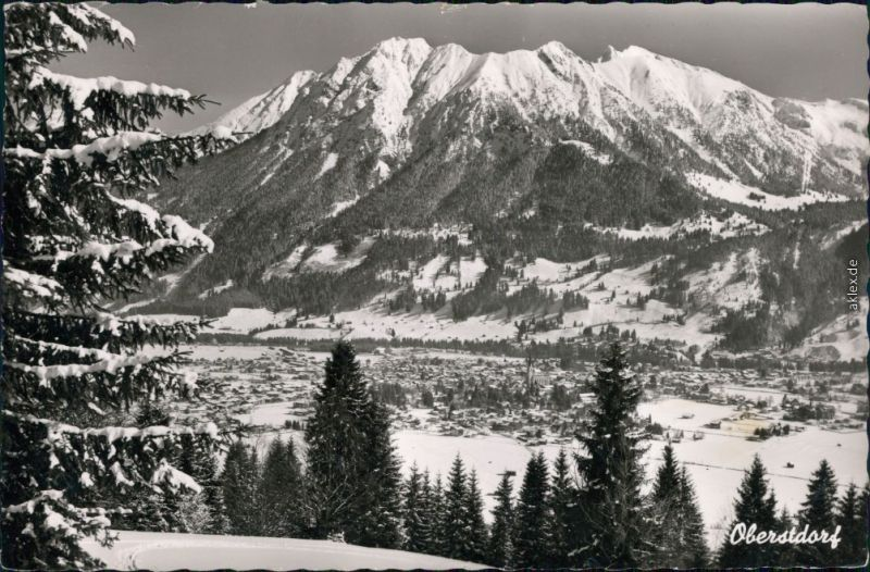 Ansichtskarte Oberstdorf (Allgäu) Panorama-Ansicht 1968