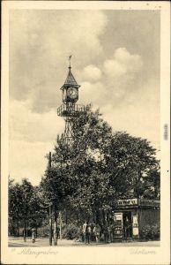 Ansichtskarte Altengrabow Uhrturm mit Kiosk davor 1938