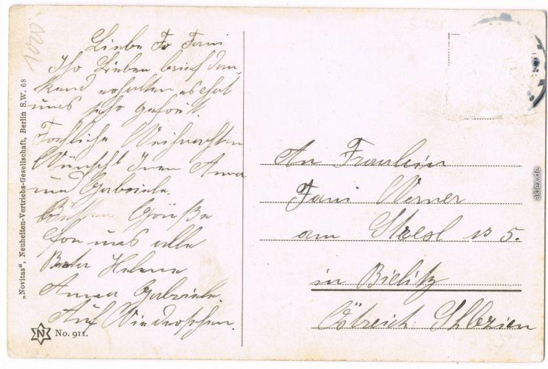 Ansichtskarte Schöneberg-Berlin Commerzbank Viktoria Luise Platz 1915  1