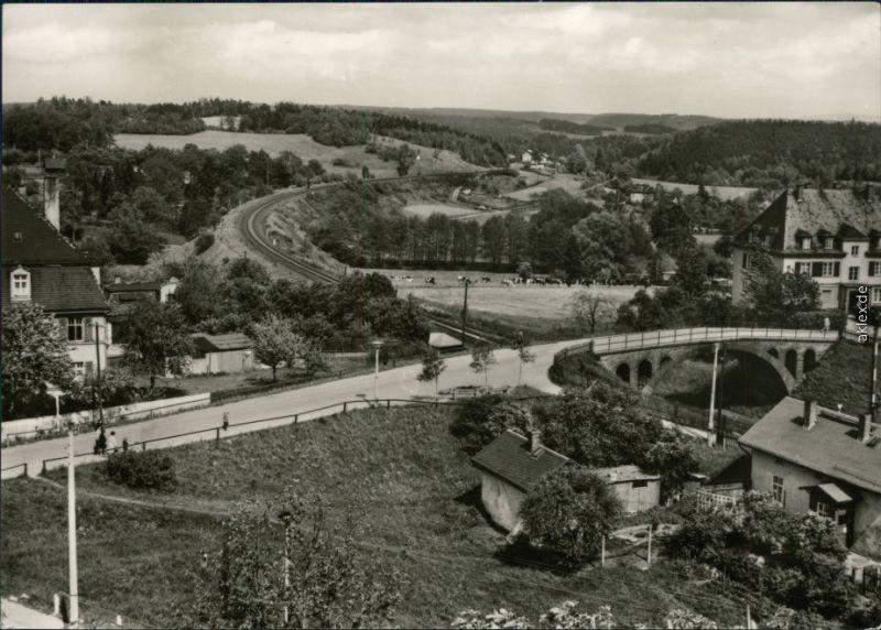 Ansichtskarte Jößnitz-Plauen (Vogtland) Panorama-Ansicht 1973