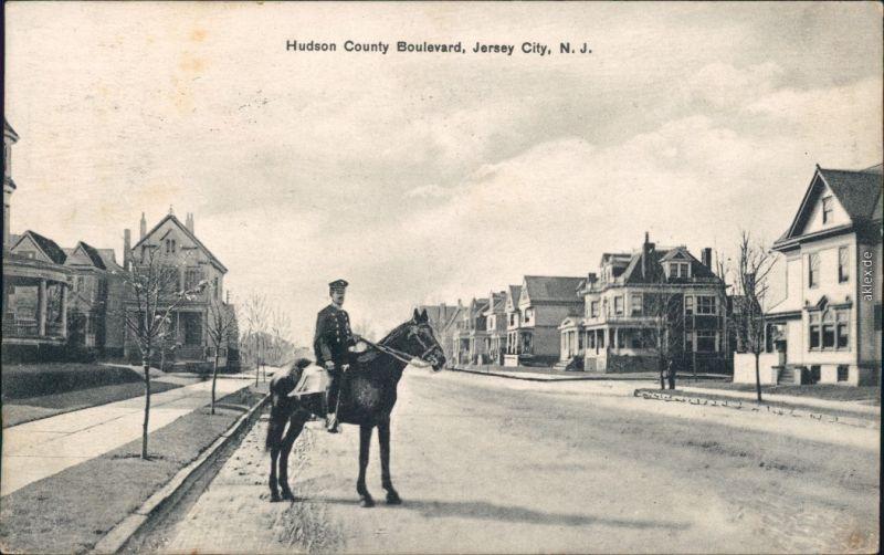 Ansichtskarte Jersey City Hudson County Boulevard 1917