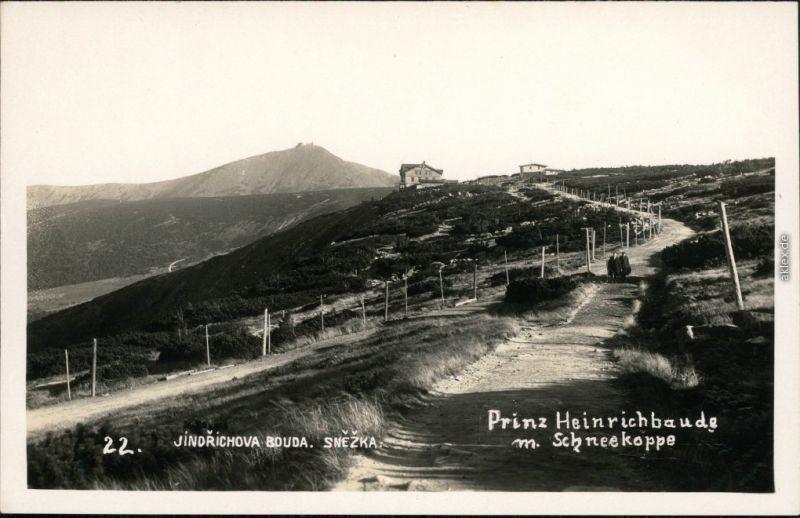 Krummhübel Karpacz Weg zur Prinz-Heinrich-Baude /  1929