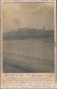 Ansichtskarte Pirna Blick auf die Stadt - Privatfotokarte 1913
