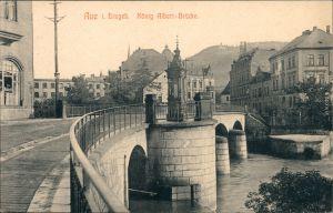 Ansichtskarte Aue (Erzgebirge) Straßenpartie - König-Albert-Brücke 1913