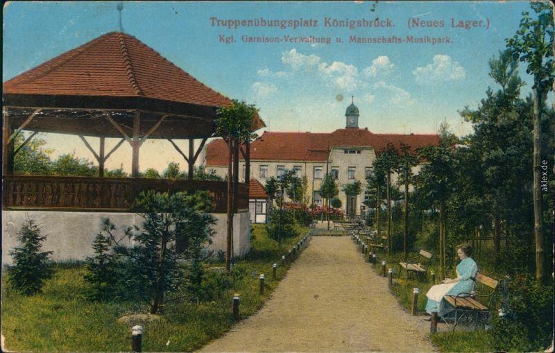 Königsbrück Kinspork Truppenübungsplatz Verwaltung Mannschafts Musikpark 1915